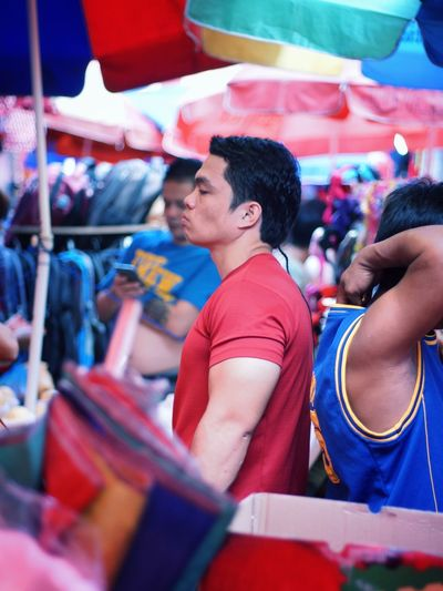 Waist Up People Market Crowd One Person Muscle Fitness Street Photography Quiapo Manila, Philippines