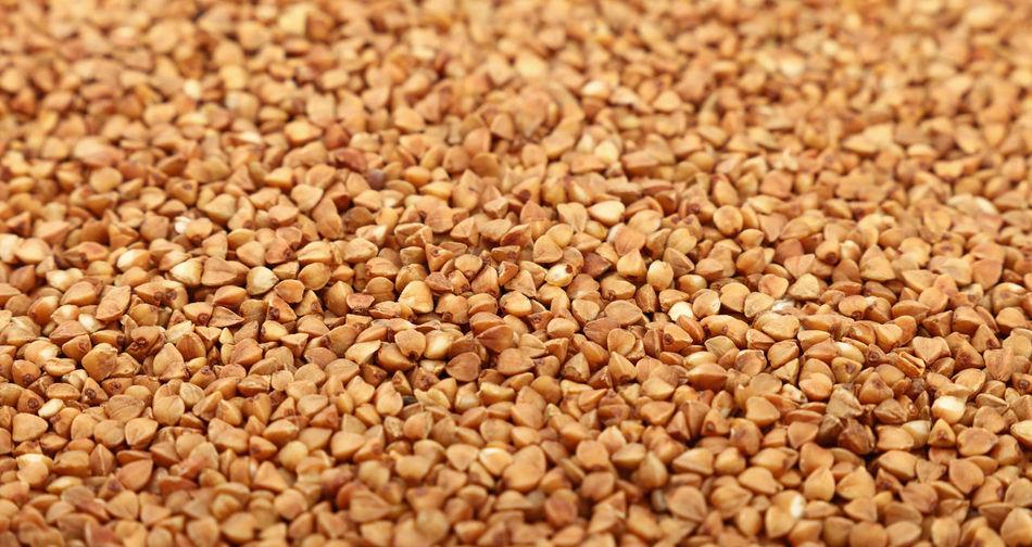 Full frame shot of buckwheat grains