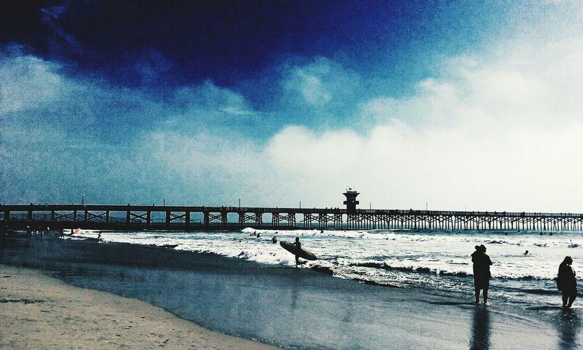 Seal beach ...sweet infinite beauty... Beauty Peaceful Peaceful Serenity Blue Sky Blue Photography LoveMyWork Beautiful Crashing Waves