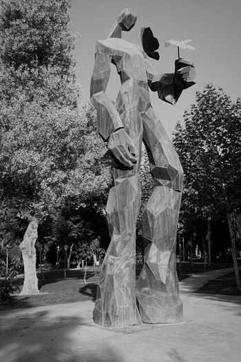 Monochrome Photography Art And Craft Park Outdoors Tree Statue Human Representation Sculpture Art Creativity Growth Branch Day Large Pedestal Memories Kindly Ironman