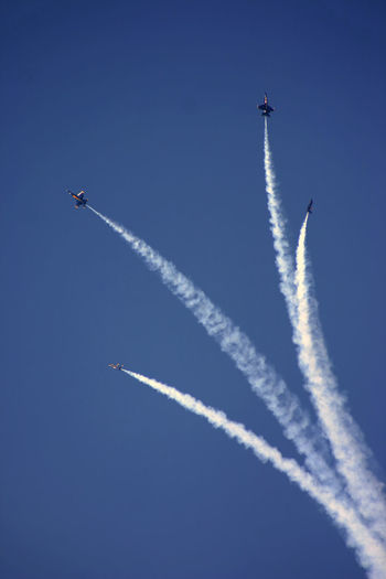 Air Vehicle Blue Blue Angles Air Show Cloud - Sky Fighter Plane Flying Outdoors Vapor Trail