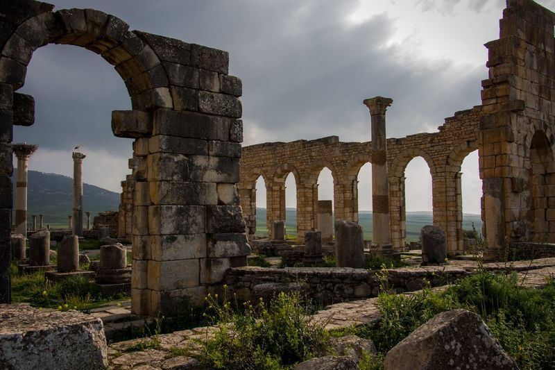 Roman ruins | Volubilis Meknes 🇲🇦 Morocco Meknès Volubilis History Architecture The Past Ancient Sky Built Structure Old Ruin Ruined Ancient Civilization Travel Destinations Archaeology Travel EyeEmNewHere