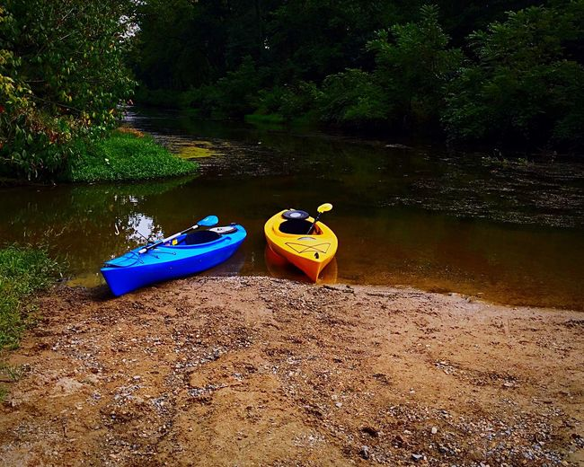 Ready and waiting Kayaks C&o Canal Kayaking Nature Towpath Summer Views The Color Of Sport