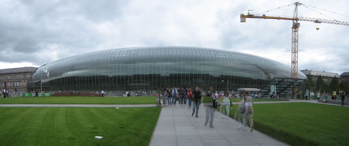 Photos of Strasbourg, France 2007 Amazing Art Building Building Exterior Construction Modern Architecture Panoramic Trainstation