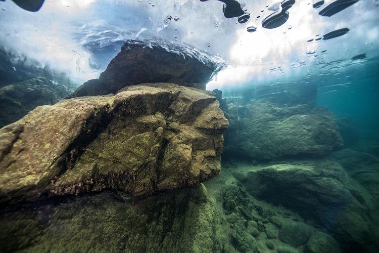 Scenic view of rock underwater
