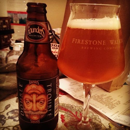 East coast meets west coast. Founders and Firestone (founders is in Michigan, so it counts as east coast right?)