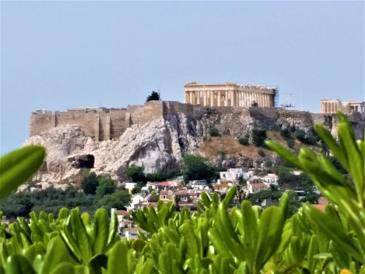 Acropolis, Athens April Beautiful Democracy Greek Gods Greek Art Heaven Parthenon Acropolis Greece Restoration Views Ancient Architecture Classical Greek Style Day Distant Geometric Godess Athena Great Place To Visit History In Honor Of Nature Outdoors Temple - Building