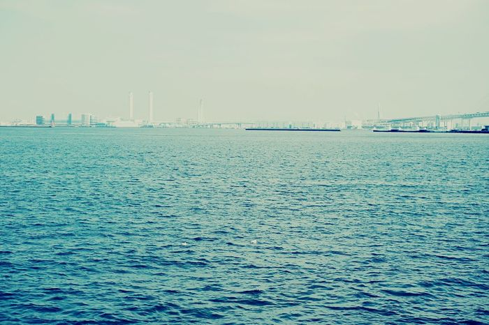 Yokohama Sae Fine Weather Bule Water Umi Horizon Over Water