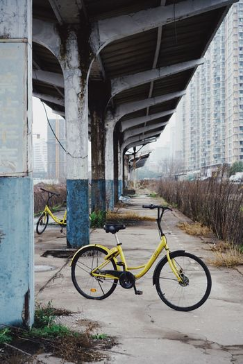 Abandoned Abandoned Places Transportation Bicycle Architecture Land Vehicle Built Structure Mode Of Transportation City Stationary Parking Outdoors