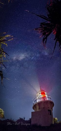 The milky way high above Fingal Head lighthouse Australia Fingal Head Long Exposure Lighthouse Nightphotography Milkyway Astrophotography Stars Nsw Canon