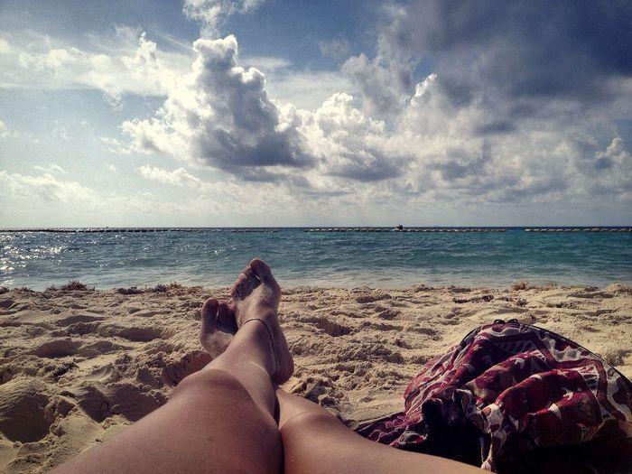 Barefoot on sea sand