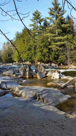 Relaxing Romantic Romance Enjoying Life Tranquil Scene Beauty In Nature Spring New Hampshire Water Riverscape River Granite Formations Real People Relaxing Lifestyles Day North Woodstock