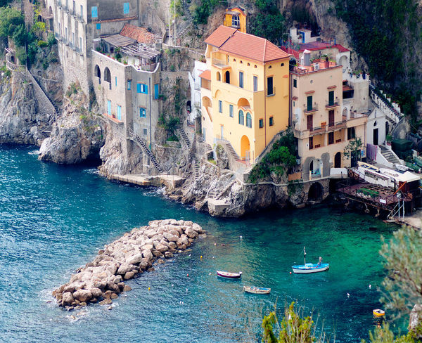 Conca dei marini Architecture Water Beach Outdoors Gondola - Traditional Boat Beauty In Nature EyeEmNewHere Traveling Travelphotography Vacanzeitaliane Travel Destinations Seascape Cliff Italy Conca Dei Marini Amalficoast