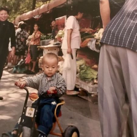 Tianjin PRC Childhood Real People Boys Togetherness Leisure Activity Men Father Lifestyles Son Baby Stroller Outdoors Day Full Length People Market China Tianjin China Tianjin market The Street Photographer The Street Photographer - 2017 EyeEm Awards