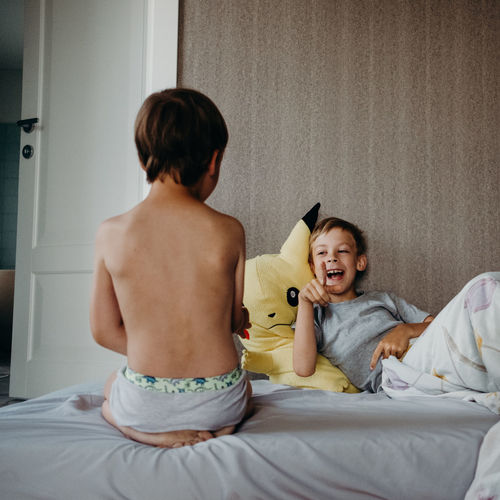 Bed Children EyeEm Best Shots EyeEm Gallery Family Home Kids Morning Relationship The Week on EyeEm Boys Brothers Child Kid Lifestyles Real Life Real People Sleep