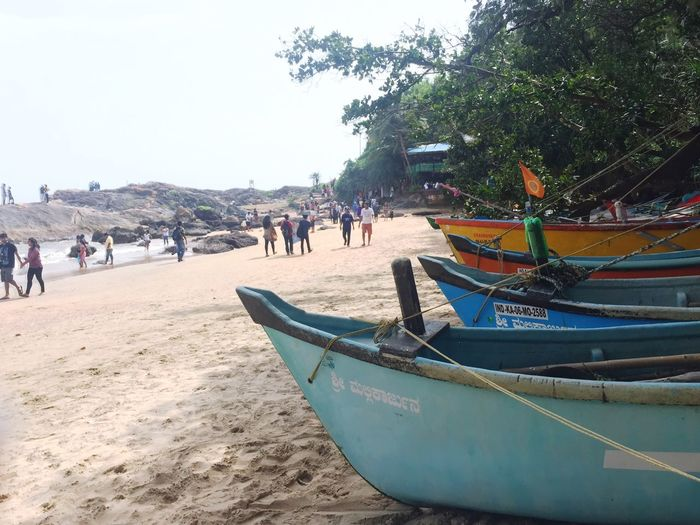 Weekend Travel Check This Out Boat Beach Beauty In Nature Beachphotography Gokarna Incredible India Landandsea Perfect Thingsyoufindwhiletraveling Eyeemphoto