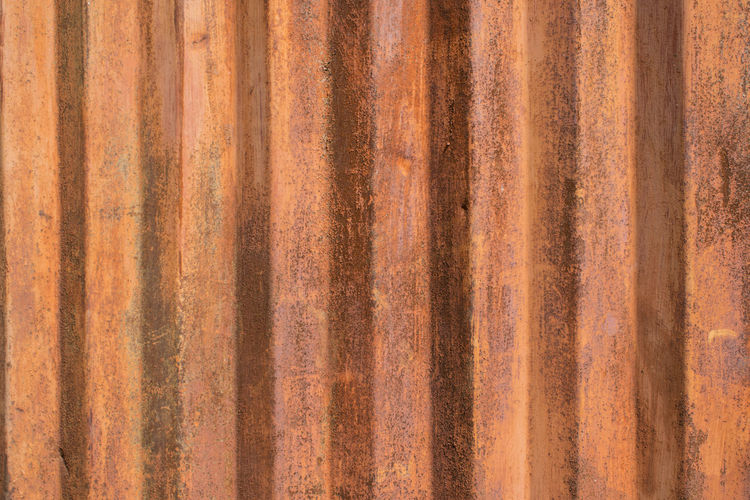 Full frame shot of rusty metallic structure