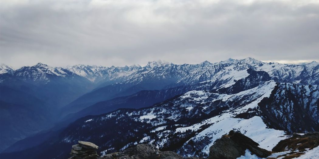Kedarkantha Summit view Uttarakhand Kedarkantha India Mountain Snow Cold Temperature Winter Tree Forest Sky Mountain Range Landscape Snowcapped Mountain Mountain Peak