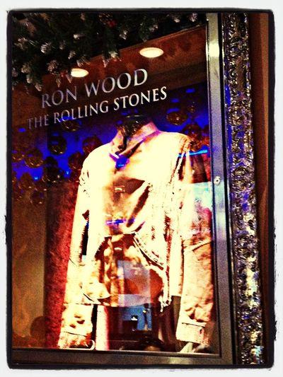 Cazadora de Ron Wood de The Rollong Stones en el Ibiza Hard Rock Cafe