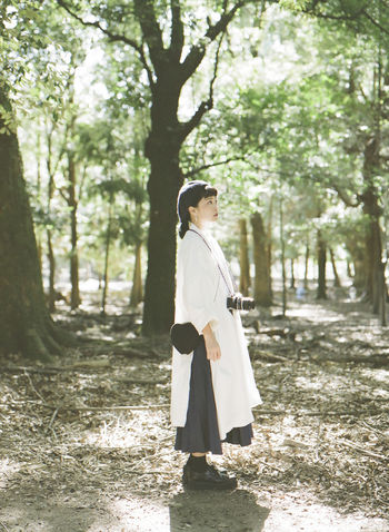 Adult Adults Only Day Forest Full Length Graduation Nature One Person One Young Woman Only Outdoors People Serene People Tranquil Scene Tree Young Adult Young Women Women Around The World The Portraitist - 2017 EyeEm Awards