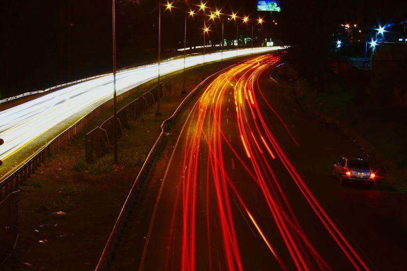City Illuminated Road Motion Cityscape Long Exposure Light Trail Speed Street First Eyeem Photo
