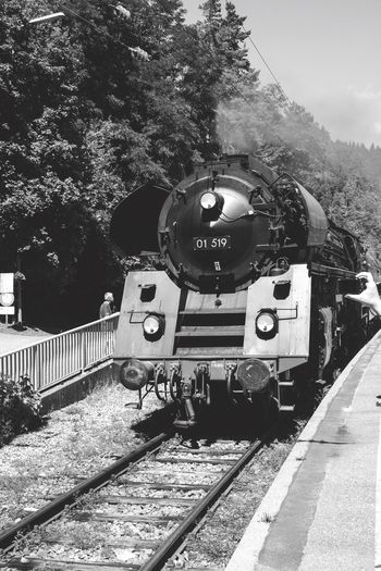 Steam Locomotive Traveling Train Hollidays My Favorite Picture  Cute German Germany Eye4photography  Tourist Old Old Train Old Train Station City Blackandwhite Black And White