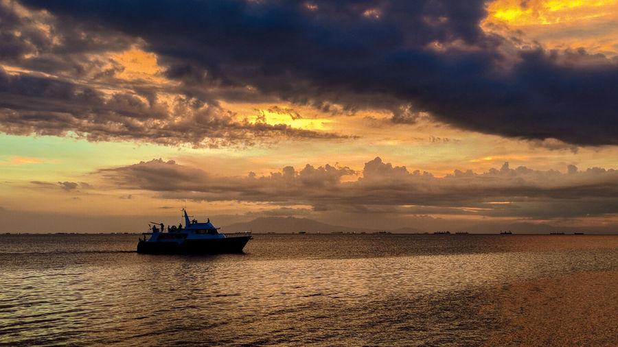 Sunset Eyeem Philippines Oil Pump Nautical Vessel Water Sea Sunset Beauty Backgrounds Beach Cityscape Urban Skyline