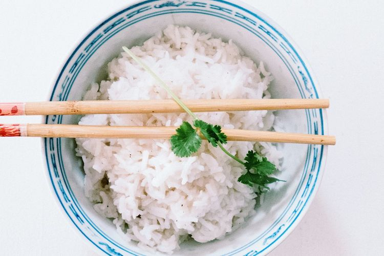 Simply food EyeEm Selects Food And Drink Food Rice - Food Staple Japanese Food Healthy Eating Chopsticks Bowl High Angle View No People Indoors  White Background Ready-to-eat Rice Freshness Close-up Day Food Stories Food Stories