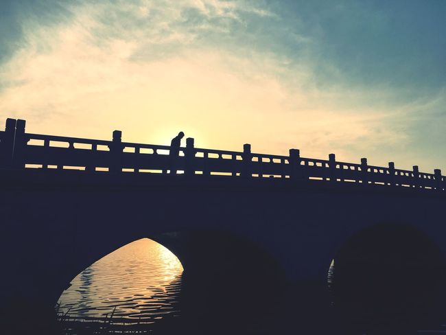Sky Sunset Bridge - Man Made Structure Water Built Structure Architecture Connection Outdoors Cloud - Sky River Nature Silhouette No People City Building Exterior Beauty In Nature Day