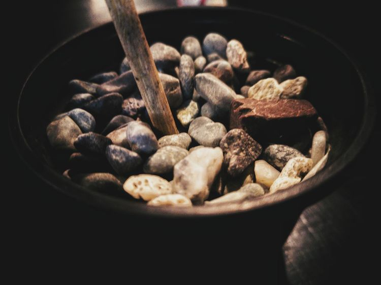 Pebbles always peal my interest! Pebbles EyeEmNewHere The Still Life Photographer - 2018 EyeEm Awards EyeEm Selects EyeEm Gallery EyeEm Best Shots EyeEm Best Edits Mobilephotography Mobile Photography Huaweiphotography Huawei P20 Black Background Bowl Close-up Food And Drink