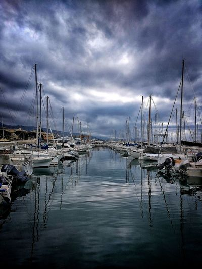 Chiavari, Marzo 2018 Hdr_Collection Port Sea Sky And Clouds Boats