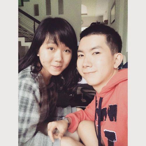 Me and my sister !! She is so lovely!! ^^ Sister Lovely Familys Vietnameseboy Vietnam Vietnamese