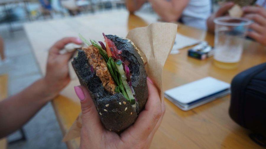 tuna burger best ever ;) Food Burgers Fresh Tuna Croatia ❤ Human Hand People Table