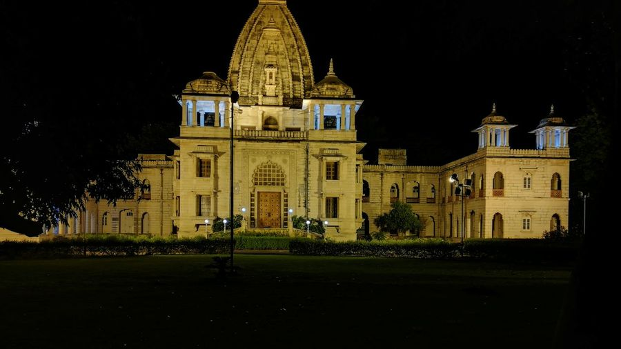 Baroda Palace Politics And Government City Illuminated Government Dome Sky Architecture Building Exterior Built Structure