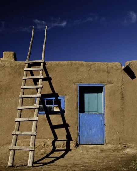 Adobe home on taos pueblo in new mexico