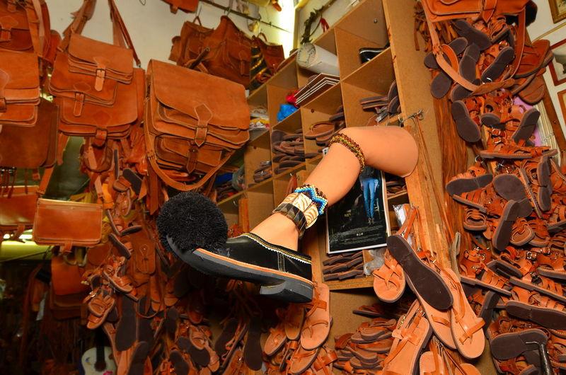 Leather handmade bags and traditional greek tsarouhi shoe. Abundance Artisan Baggage Craft Evzones Shoe Handbag  Handmade Indoors  Large Group Of Objects Leather Leather Bag Leather Craft Leather Craftsman Satchel  Shop Shopping Stack Suitcase Traditional Tsarouhi Shoe Workshop