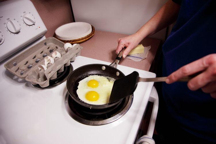 Man Preparing Omelet