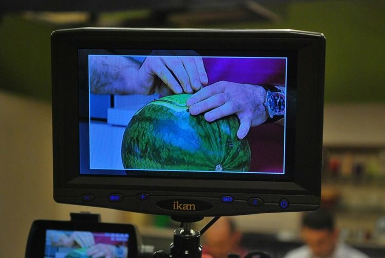 My Hobby My Work My Hands Tv Show Wathermelon Carving Nice Day Display Camera