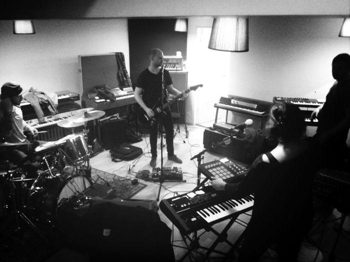 Benny Crespo's Gang band practice getting in shape for Iceland Airwaves. Music Icelandairwaves