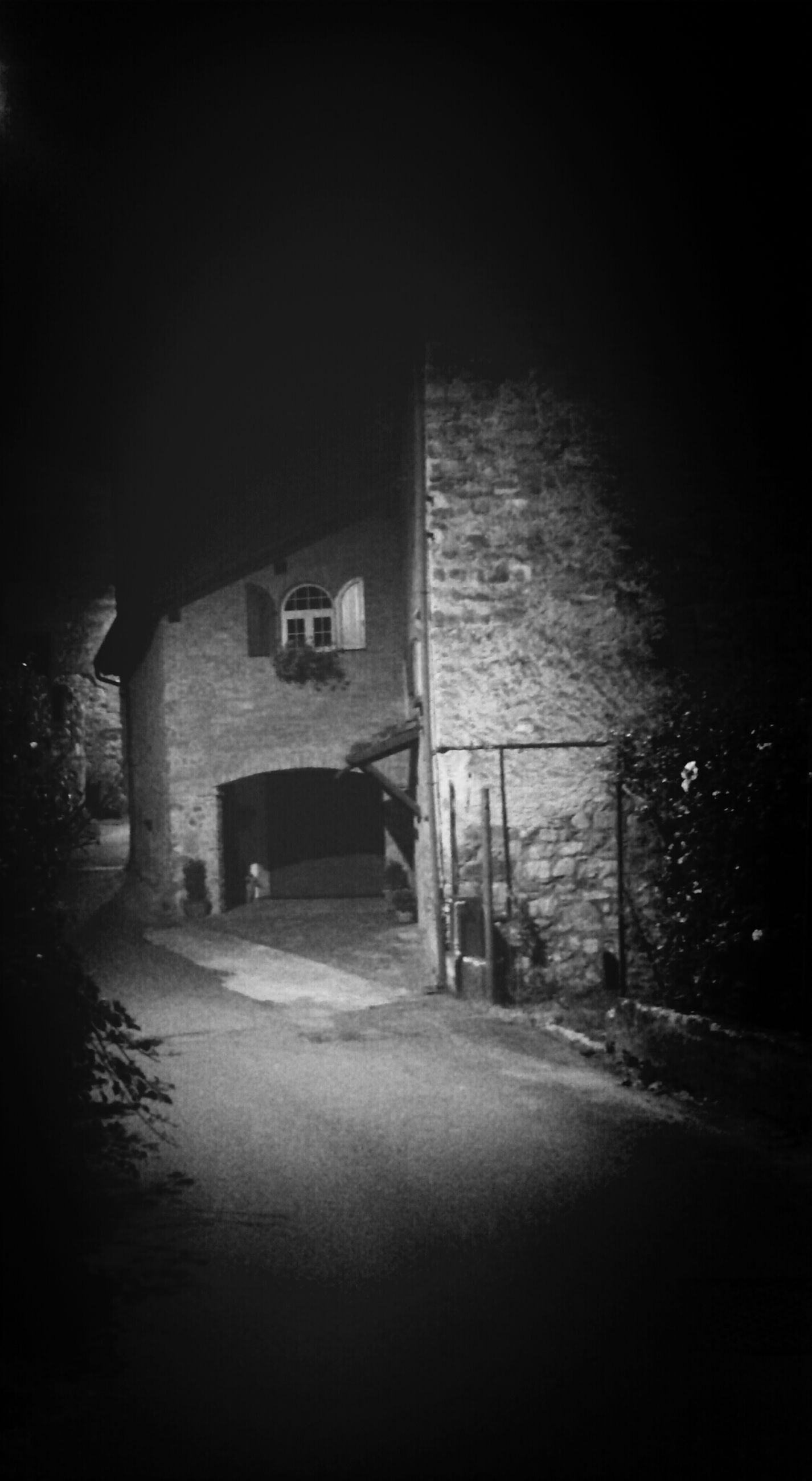 architecture, built structure, building exterior, the way forward, night, dark, building, indoors, street, wall - building feature, road, no people, house, empty, water, window, wall, illuminated