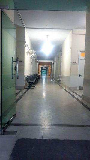 Hospital Beauty Emptyness Empty Chairs Empty Hallway Nightduty OPD Doctor  Doctor's Life