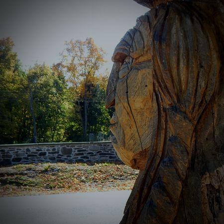 Met an indian. Treeart Sculpture Indian