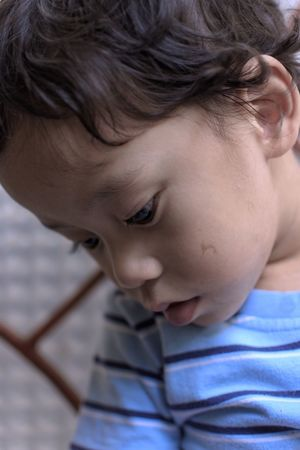 For my sister and her unborn child, I hope everything gonna be OK ... Bandung Shooter Indonesian Shooter The Portraitist - 2018 EyeEm Awards Boys Child Childhood Close-up Cute Focus On Foreground Headshot Human Face Indoors  Innocence Lifestyles Looking Looking Away Males  Men One Person Portrait Real People