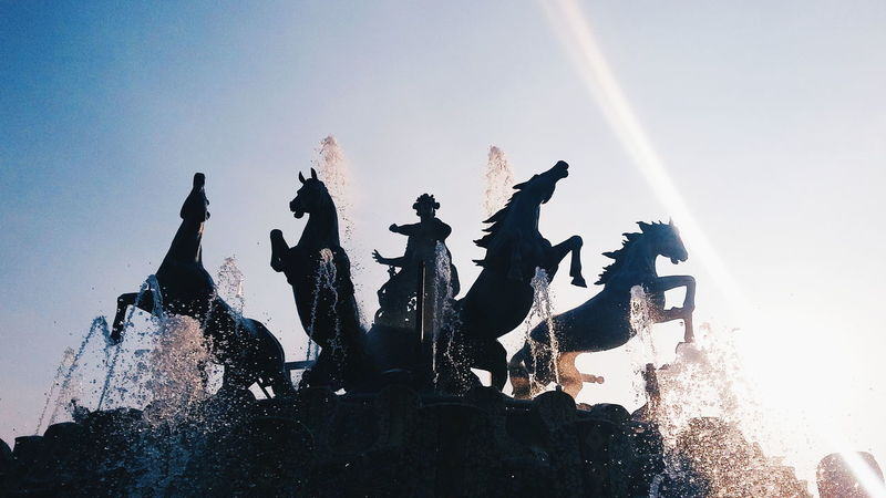 India Vscocam Creatingnuances Gameoftones Statue Fountain Fountains Ramoji Film City, Hyderabad The Architect - 2016 EyeEm Awards The Great Outdoors - 2016 EyeEm Awards