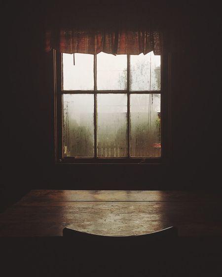 Winter Fog Light Moody Rain Window Window Indoors  No People Day