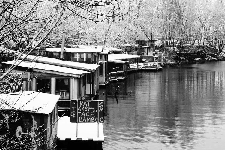 Berlin Kreuzberg at winter Architecture B&w B&W Collection Berlin Building Exterior Fluss House Kanal Kreuzberg Kreuzberger Schleuse Lake Leading Outdoors Reflection Restaurants River Riverside Schnee Snow The Way Forward Urbanphotography Water Waterfront Winter