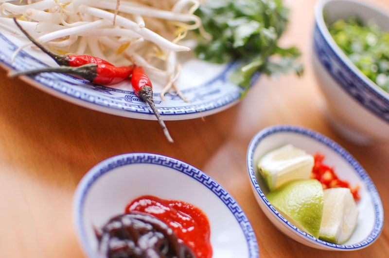 Tilt Image Of Food On Table