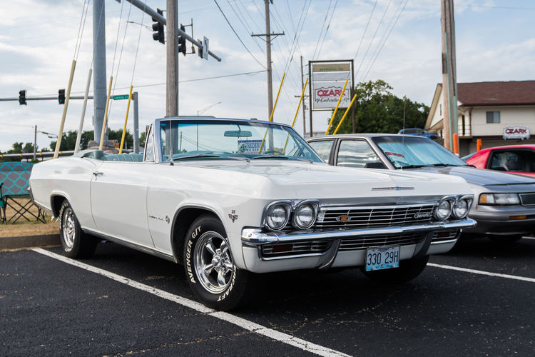 White Chevrolet Impala CHEVROLET IMPALA Car Car Show Chevrolet Collector's Car Convertible Convertible Car Motor Vehicle Muscle Car No People Retro Styled Show Car Transportation White