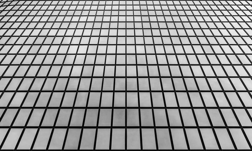 Los Angeles, California Reflection Architectural Detail Architecture Backgrounds Black And White Blackandwhite Built Structure Close-up Day Full Frame Geometric Shape Geometry Glass Grid Los Angeles Downtown Low Angle View No People Pattern Steal The Graphic City