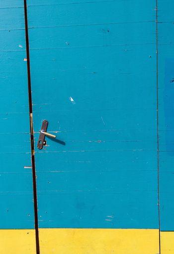 Door Blue Door Colorblocking Blue And Yellow Closed Door Closes Blue Door Streetphotography